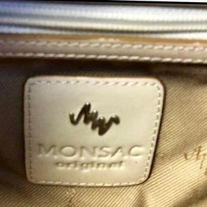 Monsac Bags - Monsac Rattan Straw Purse & Leather Satchel Purse